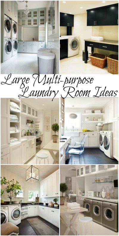 Large multi-purpose laundry room ideas #laundry #design #home @remodelaholic