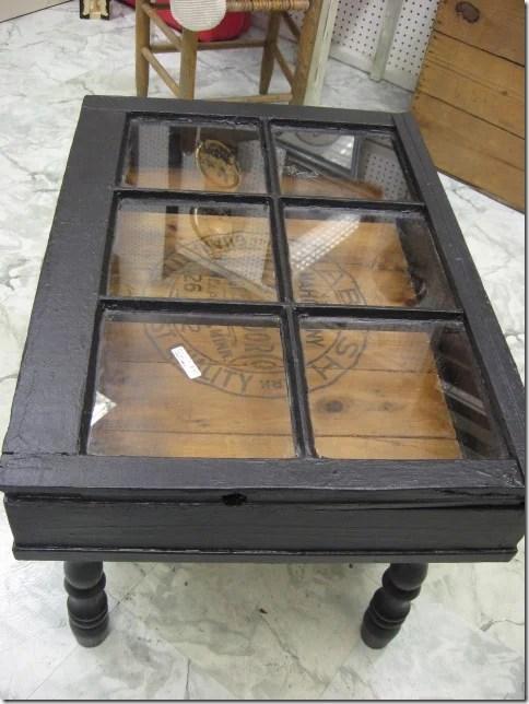 Southern Hospitality - flea market old window coffee table - via Remodelaholic