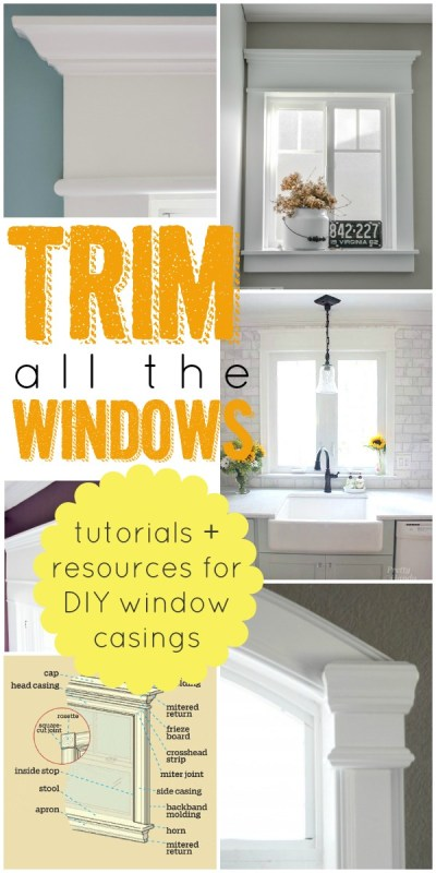 The Best Tutorials and Resource to Help You Trim Your Windows via Remodelaholic