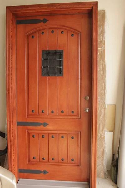 Tuscan front door makeover