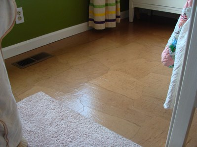brown paper floor diy tutorial