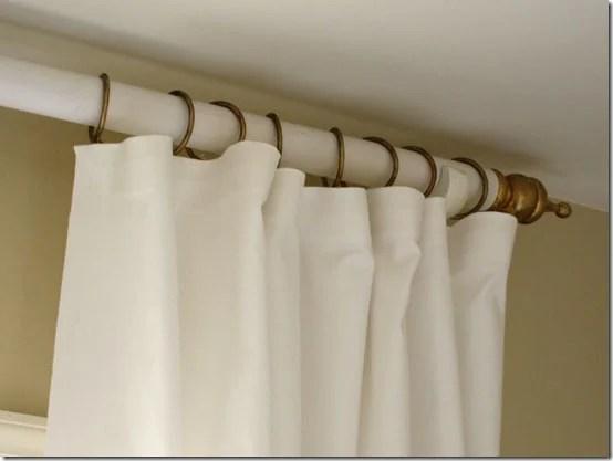 diy curtain rod In My Own Style via Remodelaholic