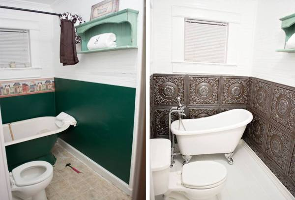 Bathroom Remodel | Reader projects featured on Remodelaholic.com #diy #remodelaholic