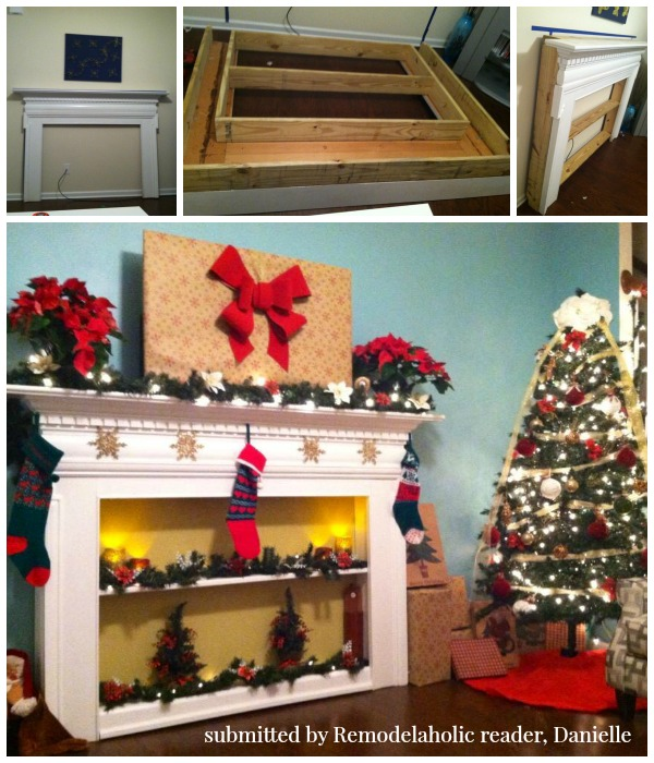 Mantel into Bookcase | Reader projects featured on Remodelaholic.com #diy #remodelaholic