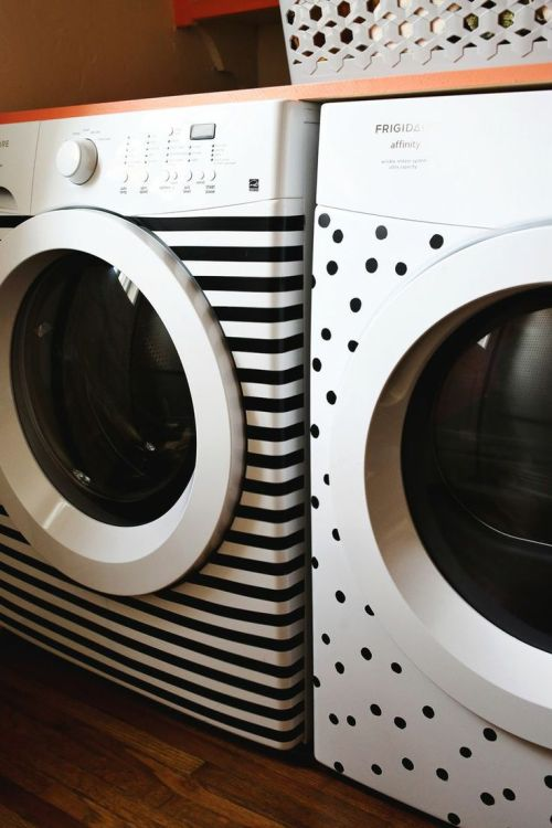 fun with electrical tape, laundry room ideas