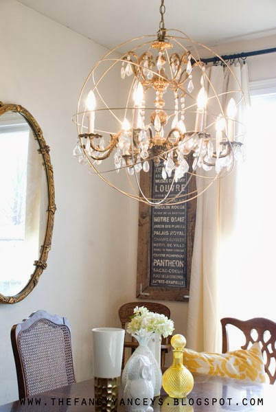 how to create a crystal orb chandelier like Restoration Hardware, Vintage Romance Style featured on Remodelaholic