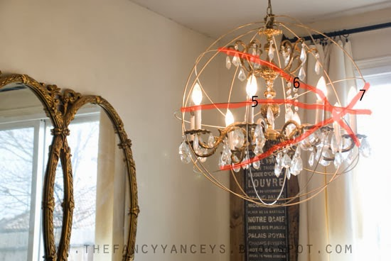 how to create a crystal orb chandelier like Restoration Hardware step 6, Vintage Romance Style featured on Remodelaholic