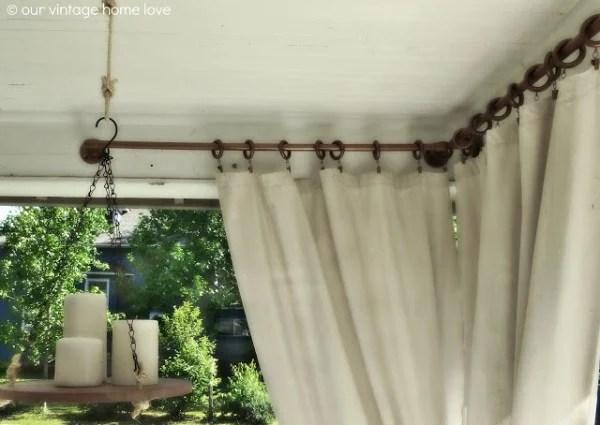 Remodelaholic | 25+ Creative DIY Curtain Rod Tutorials
