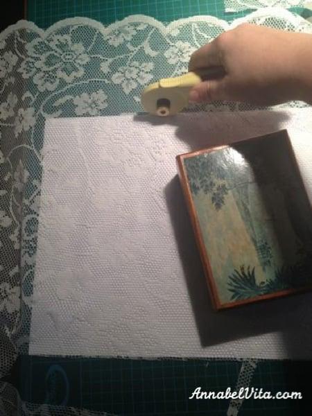 lace window privacy screen DIY, Annabel Vita on Remodelaholic