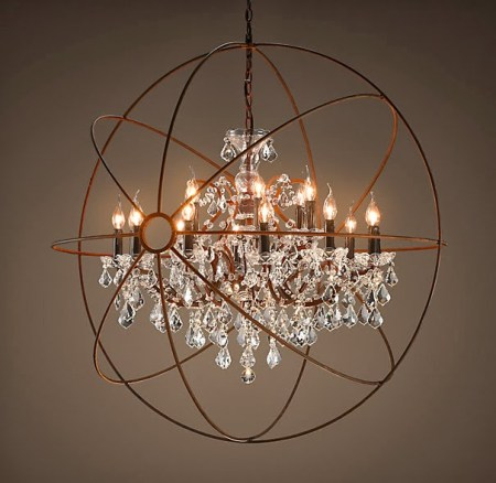restoration hardware chandelier, Vintage Romance Style featured on Remodelaholic
