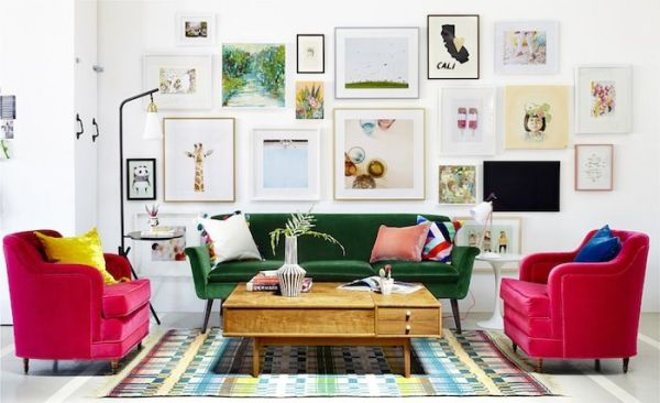 Decorating with White @Remodelaholic - colorful studio