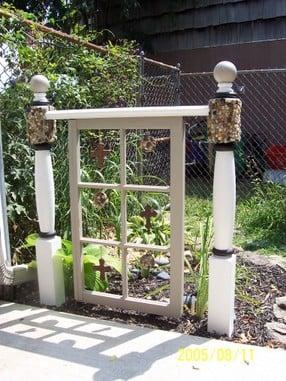 via Robo Margo - old window as garden gate - via Remodelaholic
