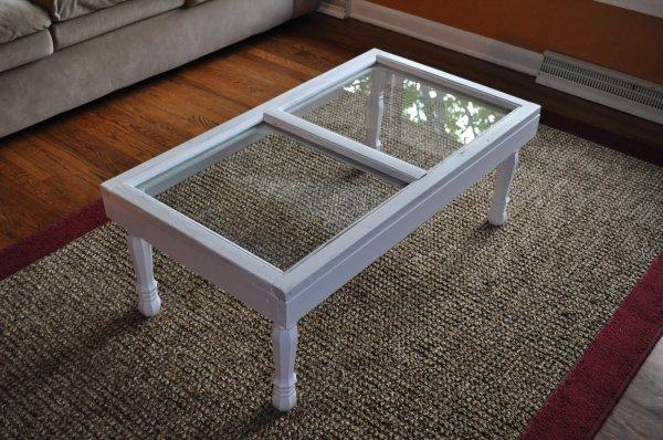 via Tatertots and Jello - old window coffee table tutorial - via Remodelaholic