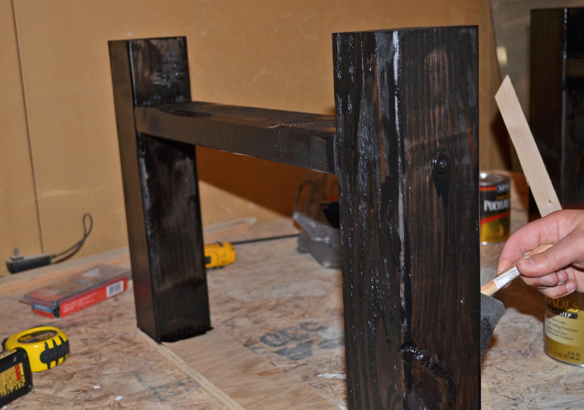 Remodelaholic DIY Simple Wood Slab Coffee Table - Build a simple coffee table