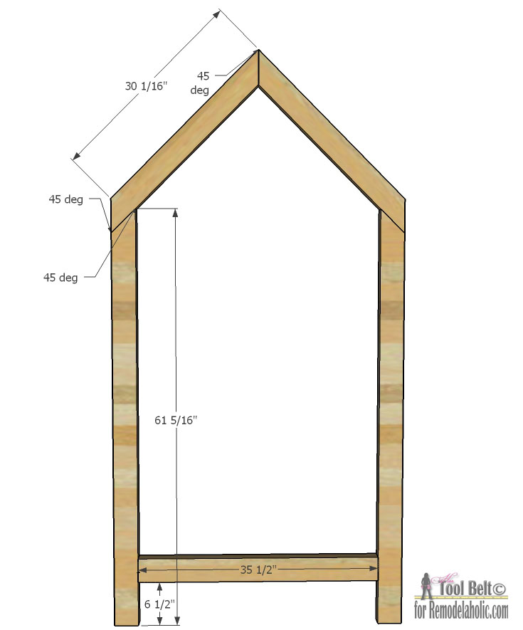 A Frame House Dimensions
