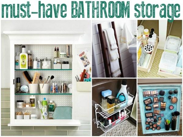 Must-Have Bathroom Storage by Remodelaholic