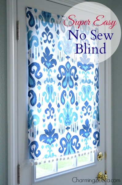 No-Sew Magnetic Blind Tutorial, Charming Zebra on Remodelaholic