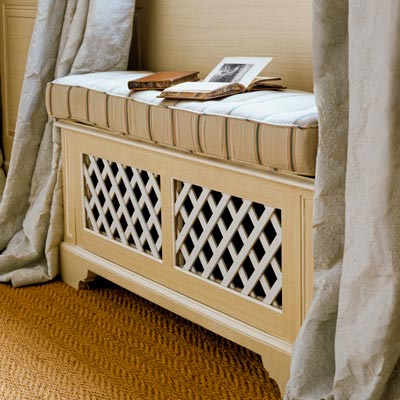 This Old House - window seat radiator via @Remodelaholic