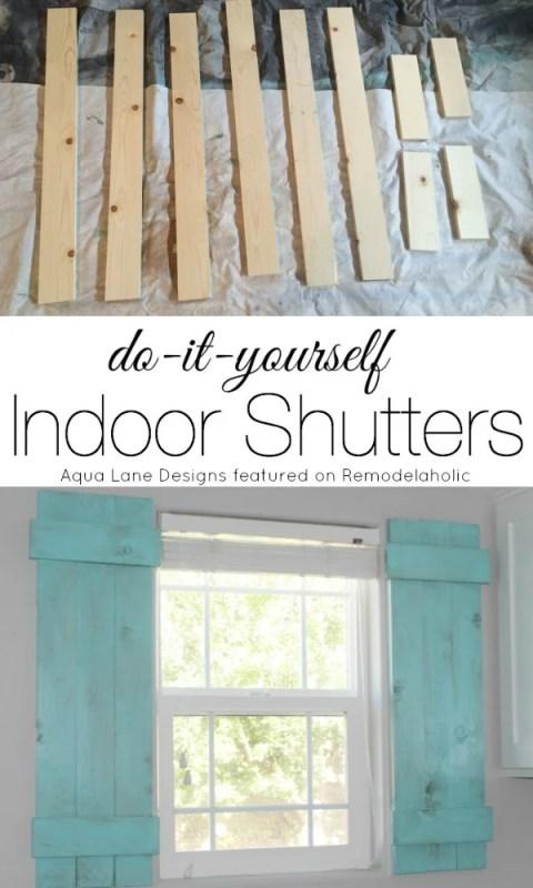 Tutorial - How to Build Indoor Shutters | Aqua Lane Designs on Remodelaholic.com #AllThingsWindows #shutters #under20bucks