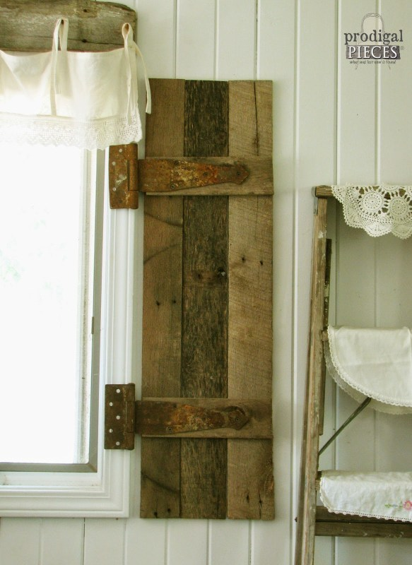 barn wood shutters tutorial, Prodigal Pieces on Remodelaholic