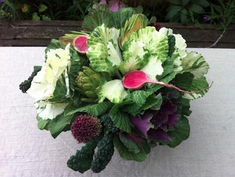 cabbage radish-bouquet