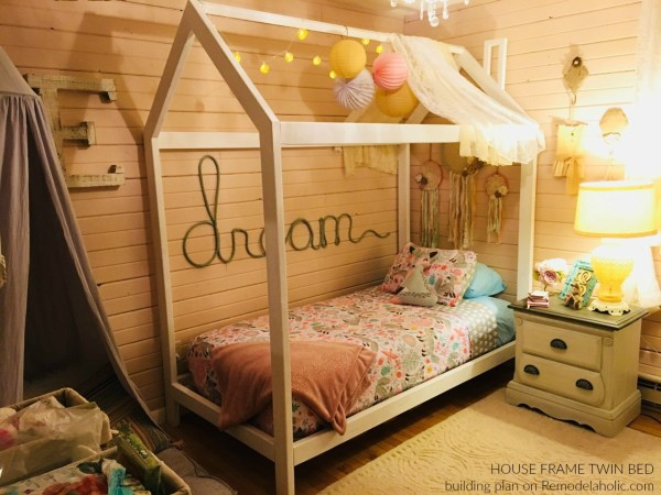 Diy House Frame Bed By Reader Alisha, Building Plans @Remodelaholic Wm