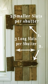 Remodelaholic | Build Rustic Barn Wood Shutters from Pallets