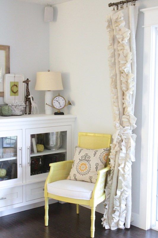 how to sew ruffled burlap curtains, The Caldwell Project on Remodelaholic