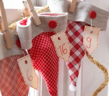 11 DIY Christmas Advent Calendar Garlands