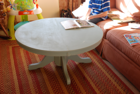 pedestal dining table to coffee table