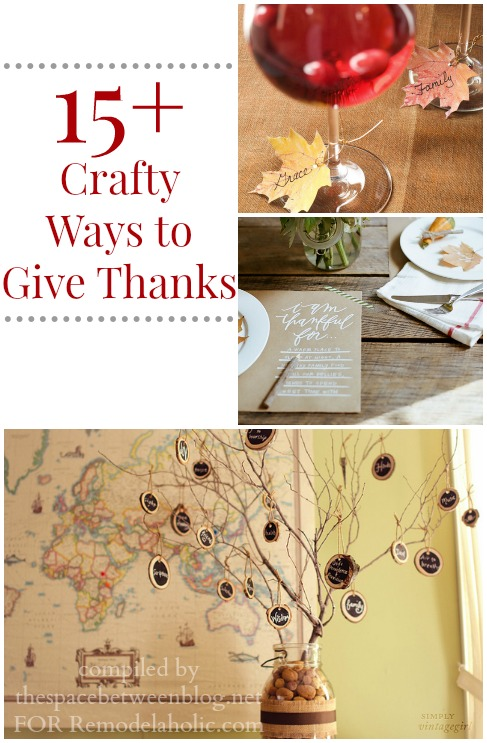 Crafty Ways to Give Thanks @Remodelaholic #thanksgiving #crafts #gratitude