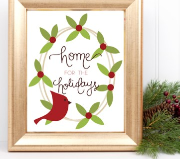Christmas Printable by Paperelli @Remodelaholic