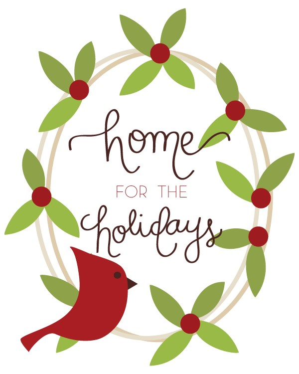 Visit Remodelaholic.com to print full resolution: FREE Cardinal Christmas Wreath Printable by Paperelli @Remodelaholic