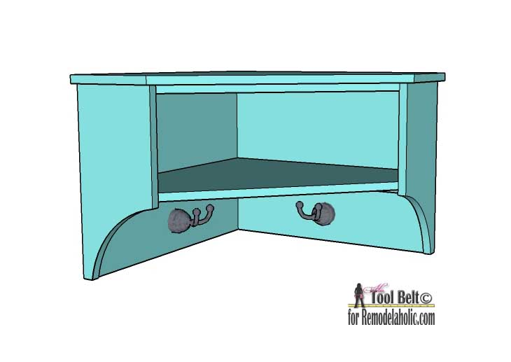 Remodelaholic Diy Corner Shelf With Storage
