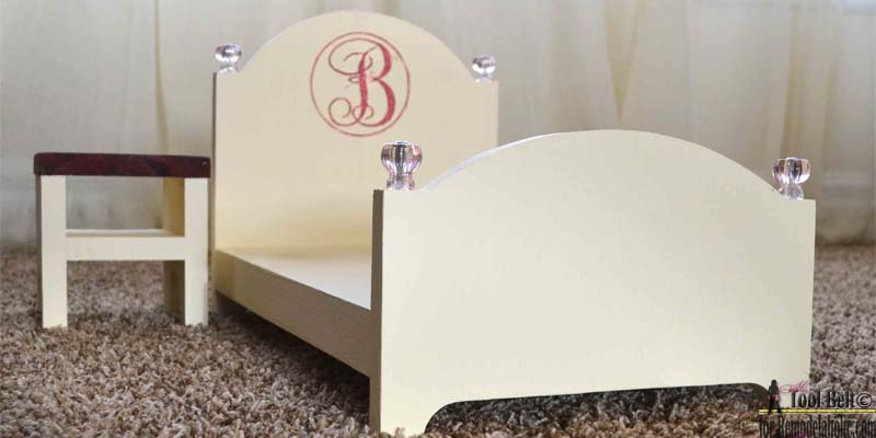 How to Make a Doll Bed for 18″ Dolls with Matching Nightstand