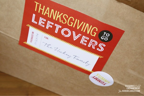 Thanksgiving Leftover Printables from Elegance & Enchantment for Remodelaholic