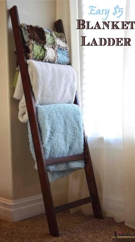 Easy 5 dollar blanket ladder, free tutorial