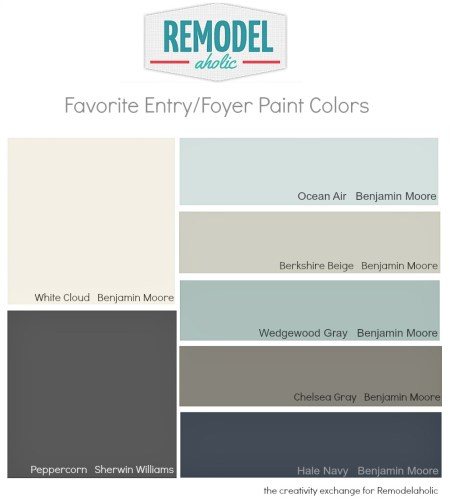 Favorite entry way:foyer paint colors.  Remodelaholic