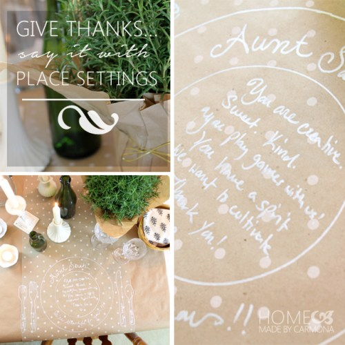 Give Thanks With Holiday Place Settings - Home Made by Carmona