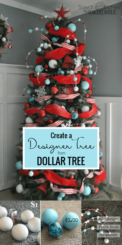 How To Create A Designer Christmas Tree On A Budget, Sawdust 2 Stitches Featured On Remodelaholic