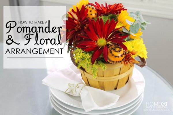 How to make a pomander and floral arrangement