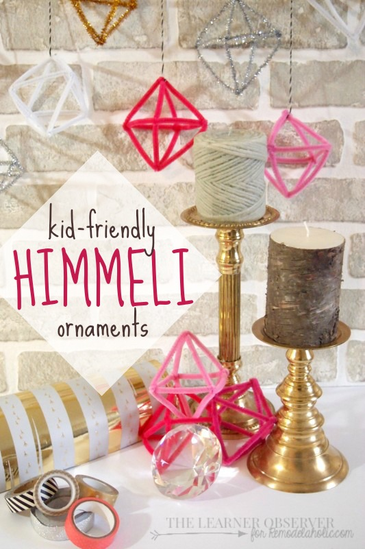 Make kid-friendly himmeli ornaments using pipe cleaners | Tutorial from The Learner Observer for @Remodelaholic