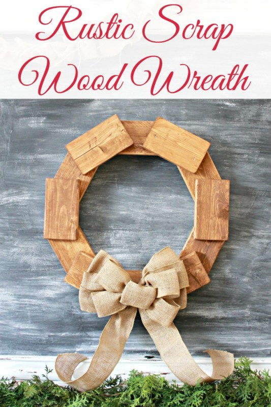 Rustic Scrap Wood Wreath Tutorial | Mom4Real for @Remodelaholic #winter #decorating