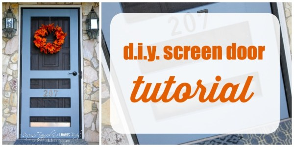 DIY Screen Door Tutorial via Remodelaholic.com
