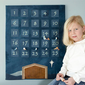 advent calendar nativity