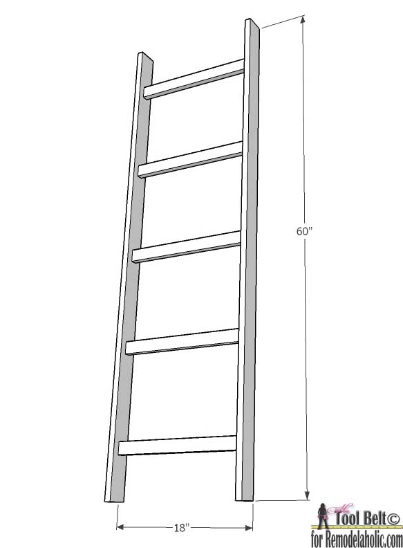 Easy DIY Blanket Ladder Wood working plans