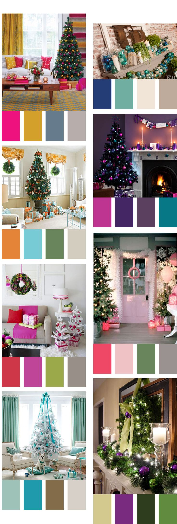 remodelaholic decorating with non traditional christmas colors. Black Bedroom Furniture Sets. Home Design Ideas