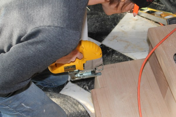 cut stair nose for railing remodel - Construction2Style via @Remodelaholic