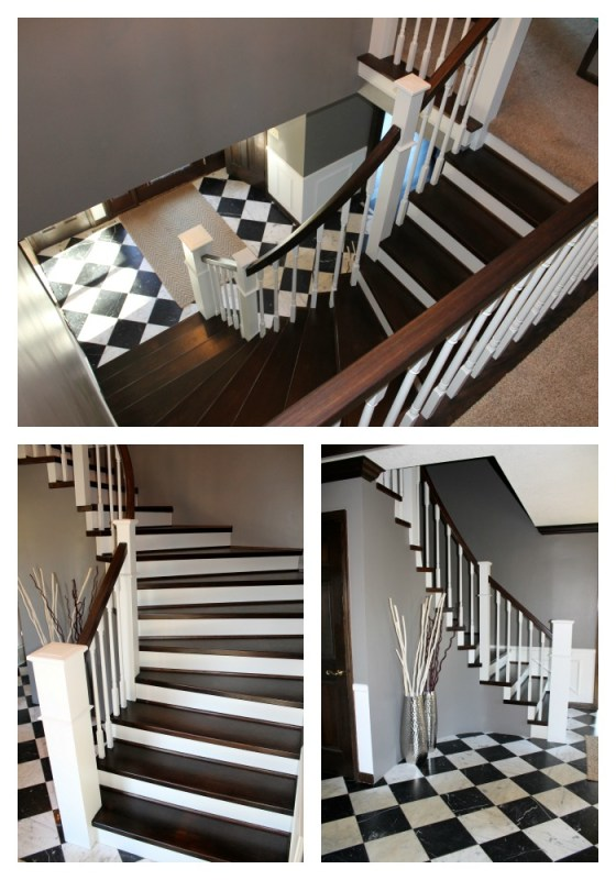 finished curved staircase remodel - Construction2Style via @Remodelaholic