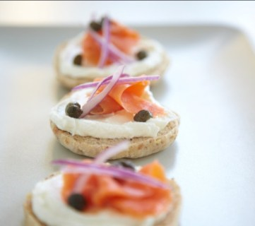 Salmon and Cream Cheese Canapés
